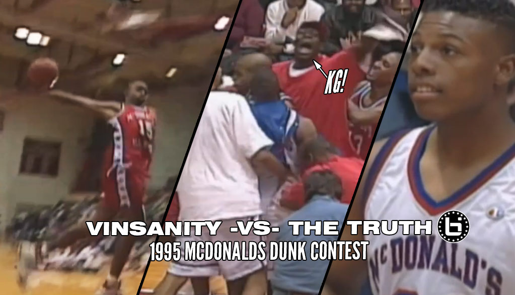 Remembering When Vince Carter & Paul Pierce Competed In A 1995 High School Dunk Contest!