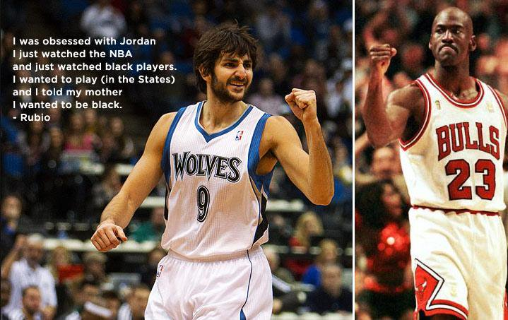 "Ricky Rubio grew up obsessed with Michael Jordan and ""wanted to be black"""