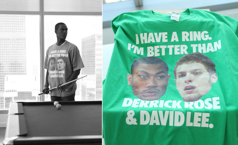 "Flashback: Rajon Rondo's ""I have a ring, I'm better than Derrick Rose & David Lee"" T-Shirt"
