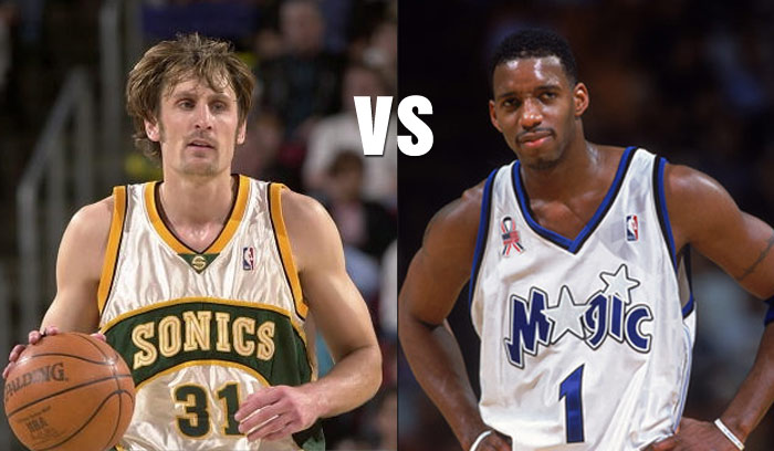 (2004) Brent Barry Almost Perfect In Duel With Tracy McGrady