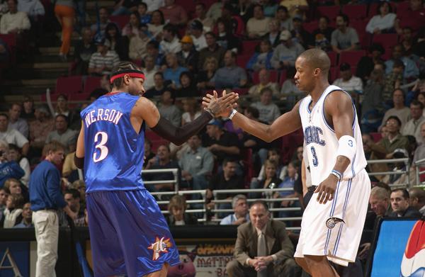 (2005) Allen Iverson scores a career high 60 against Steve Francis