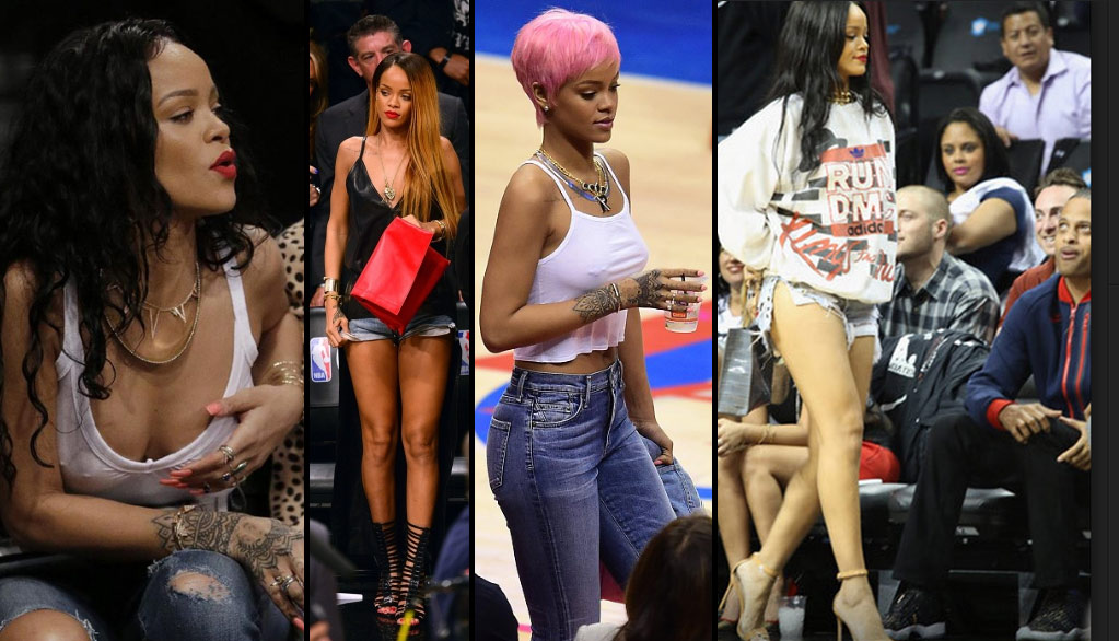 Sexiest Photos of Rihanna at NBA Events