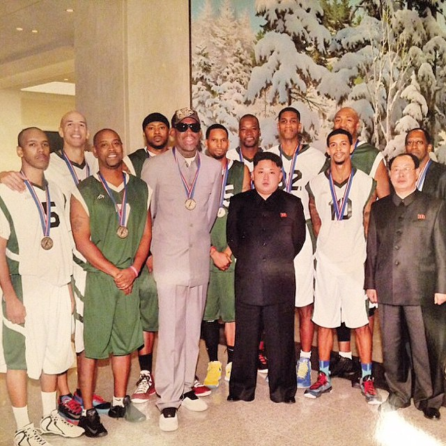 Photo: Rodman, Kenny Anderson, Vin Baker & Kim Jong Un