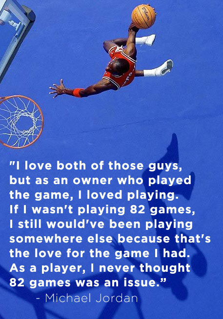 Michael Jordan responds to LeBron's comments about a shorter season