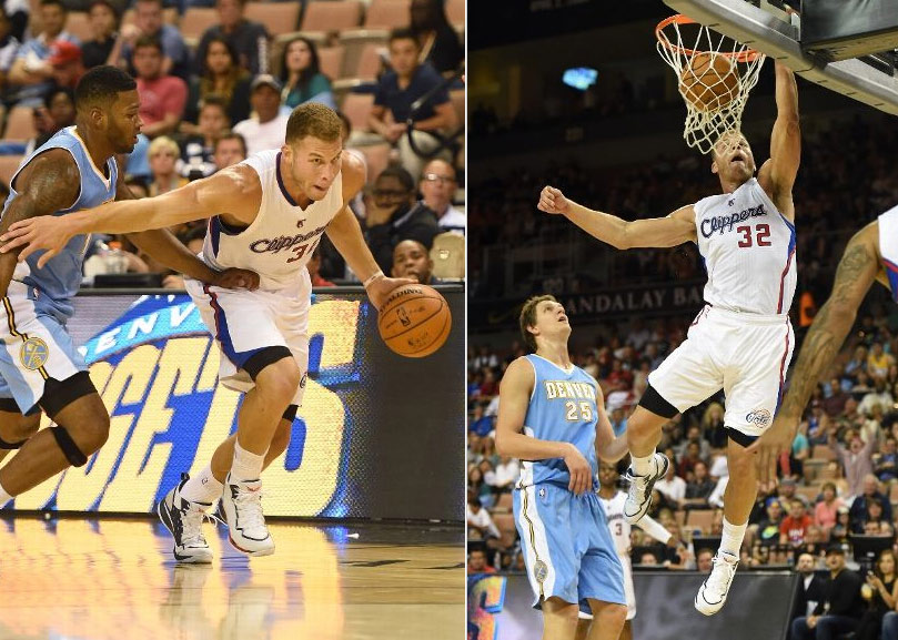 Blake Griffin shows off his handles (did he palm that & go between his legs?) & hops with this play of the day