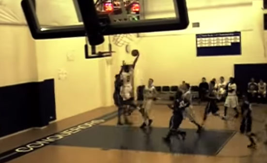 6'6 Jonathan Hevalow with the nasty poster dunk