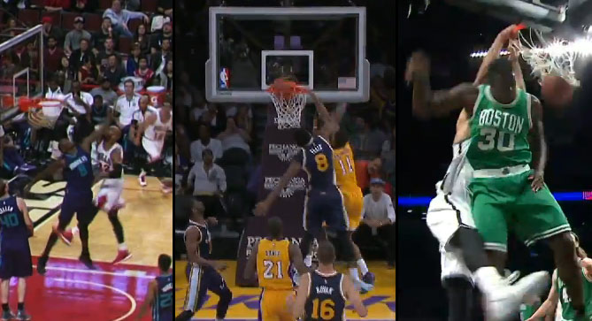 Dunk of the Night: Taj Gibson, Wesley Johnson or Jerome Jordan