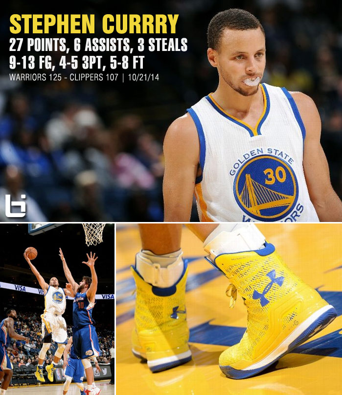 Stephen Curry (27pts) & the Warriors catch fire against the CP3/Blake-less Clippers