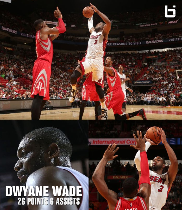 Dwyane Wade scores 26 points & leads comeback against the Rockets