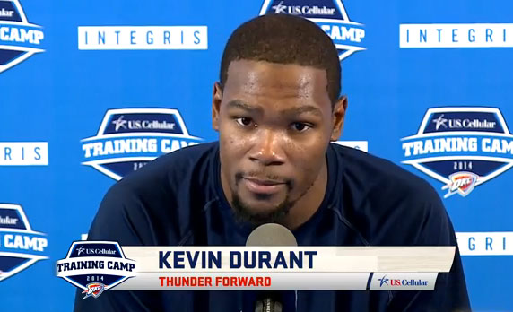 Kevin Durant talks about surgery, Westbrook, riding a scooter & coming back in December