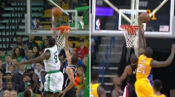 Block of the Night: Celtics' Jeff Green -vs- Lakers' Ed Davis