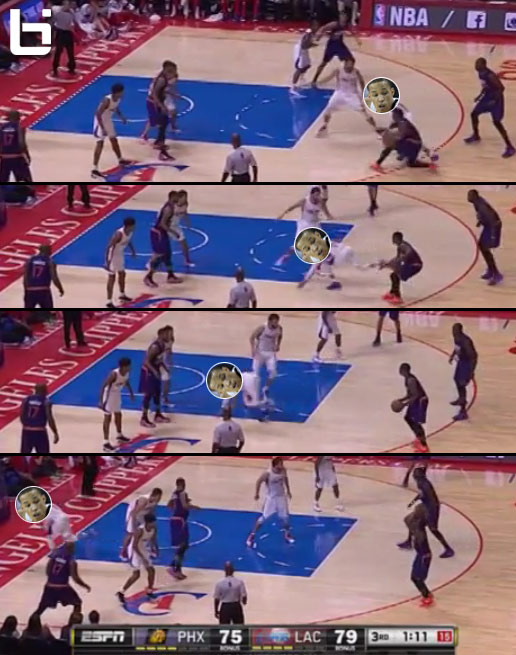 Eric Bledsoe's nasty crossover sent Jared Cunningham running off the court