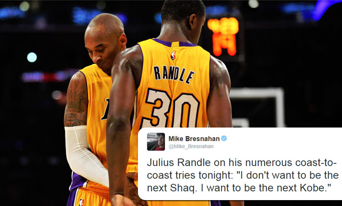 Julius Randle says he wants to be the next Kobe not Shaq