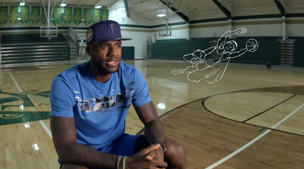 """Rare High school footage of LeBron James from the Disney tv show """"Becoming"""""""