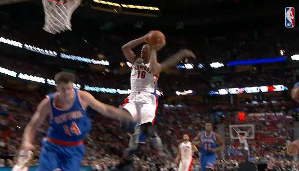 Double Dose of DeMar DeRozan Dunks vs the Knicks