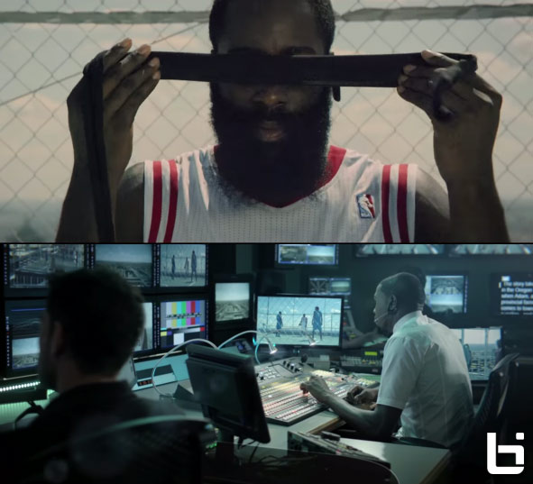 Kevin Durant coaches a blindfolded James Harden in new BBVA commercial