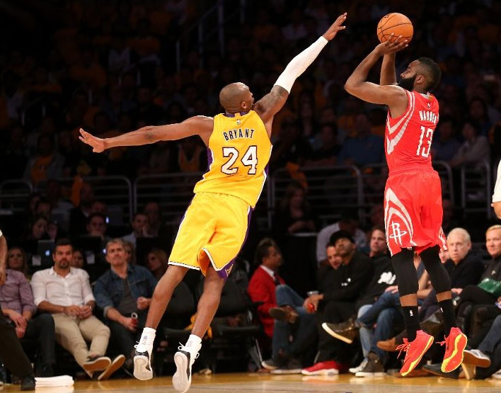 James Harden 32 points & 6 assists vs Kobe & the Lakers