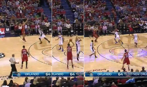 Ryan Anderson hits 3 deep 3-pointers in a row vs his old team