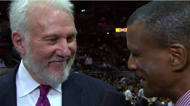 Gregg Popovich with another great awkward interview with David Aldridge
