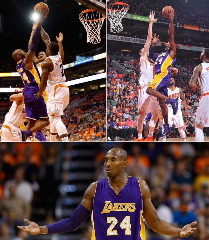 Kobe scores 31 in 20 point loss to the Suns