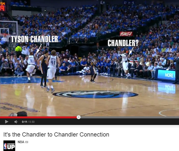 Chandler Parsons looks a lot different with the Mavs