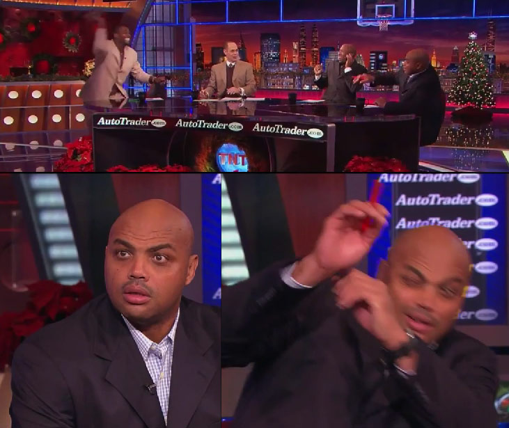 Inside the NBA: Webber throws his shoes at Charles Barkley