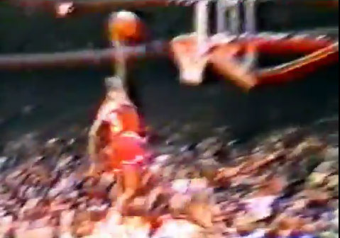 1984: Sedale Threatt Strips Jordan then gets the dunk and foul on a rookie MJ