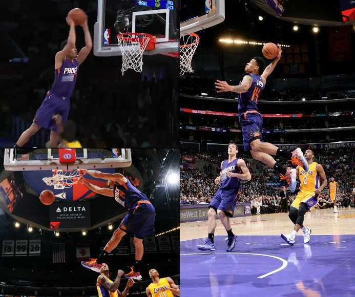 Gerald Green posterizes Jordan Hill & puts on a dunk show in LA
