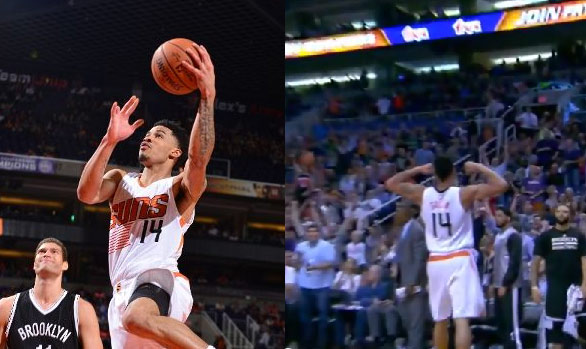 Gerald Green scores 28, flexes his muscles after going coast-to-coast for the and-1 layup