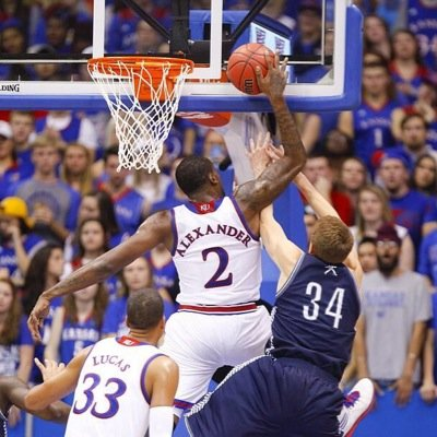 Cliff Alexander with the big block & flurry of dunks as Kansas beats Emporia St 109-56