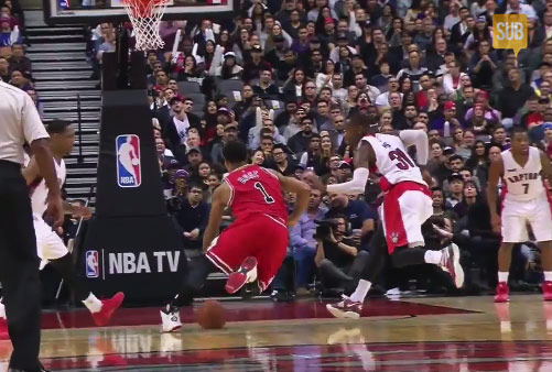 """Derrick Rose scores 20, leaves game with a """"minor"""" hamstring injury – Noah tells people to """"chill the f**k out"""""""