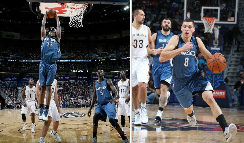 Andrew Wiggins & Zach LaVine score career-highs in 48 point loss to Pelicans