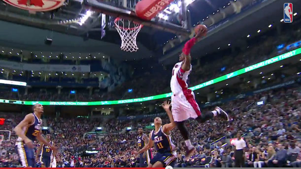 Terrence Ross takes flight against the Utah Jazz with this sick oop