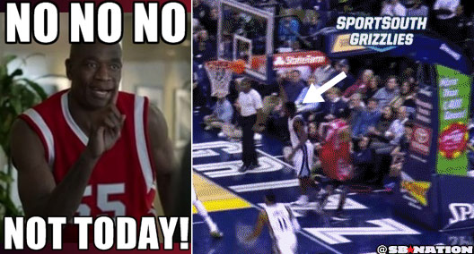 Tony Allen shuts down James Harden, blocks Dwight Howard & does the Mutombo finger wag