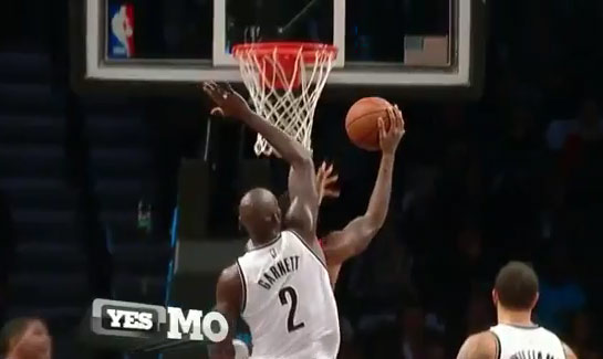 Block of the Night: LeBron on Ty Lawson -or- KG on Haslem