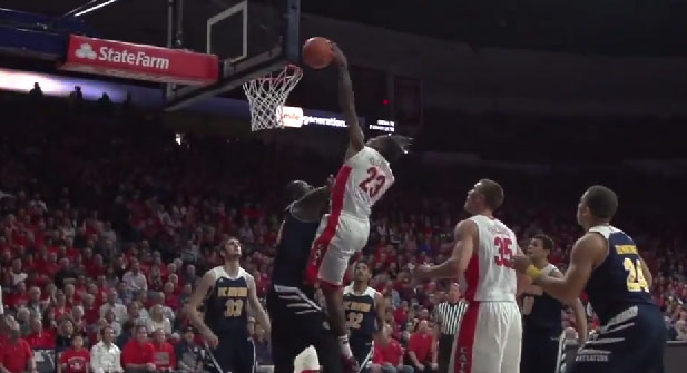 Rondae Hollis-Jefferson poster dunk on 7'6 Mamadou Ndiaye