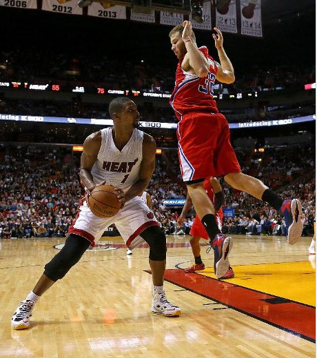 The NBA Mic'd up Chris Bosh against the Clippers for ItsReal85 material