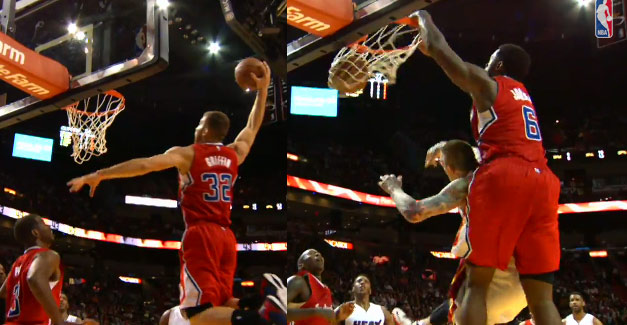 Clippers set a season high for alley-oop Dunks vs the Heat
