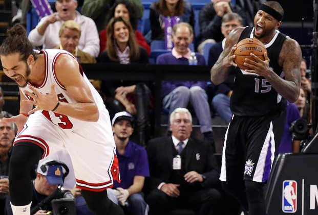DeMarcus Cousins 22 & 14 vs the Bulls, frustrates Noah with flop