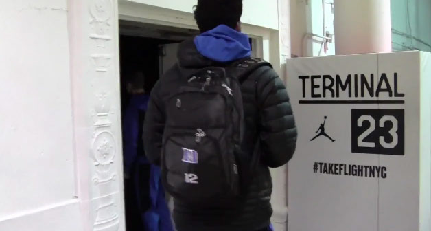 Duke practices at Terminal 23, Jabari Parker stops by
