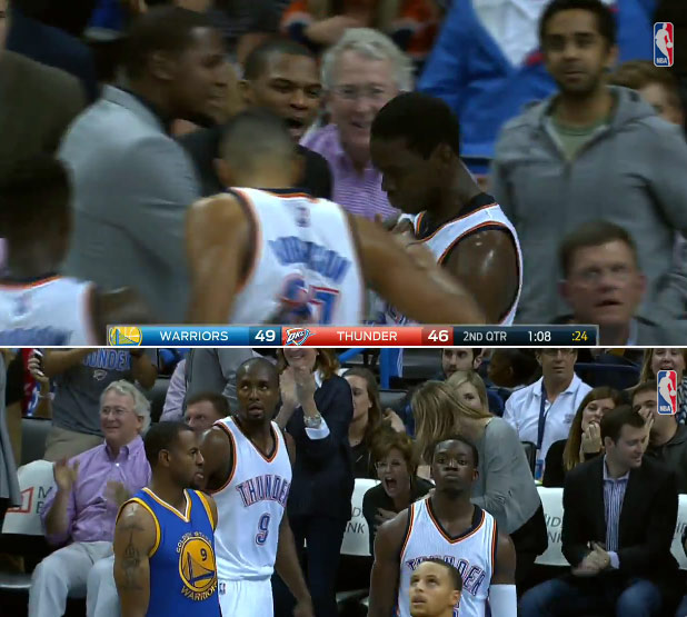Reggie Jackson flirts with a triple double & throws down a nasty and-1 dunk vs the Warriors
