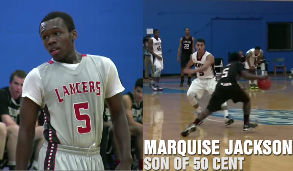 50 Cent's son Marquise Jackson has game & range on the basketball court