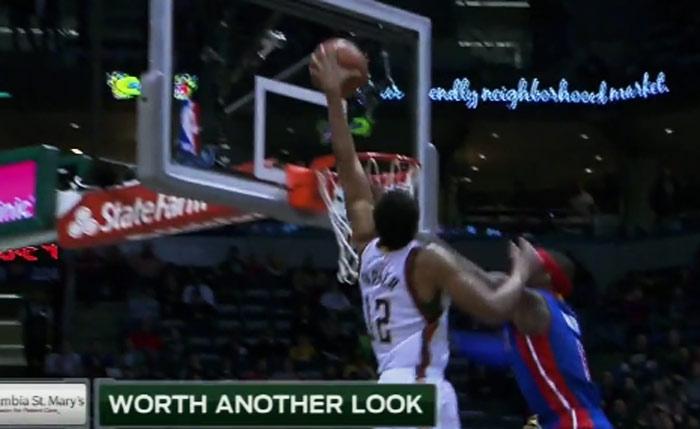 Jabari Parker and-1 dunk on Josh Smith
