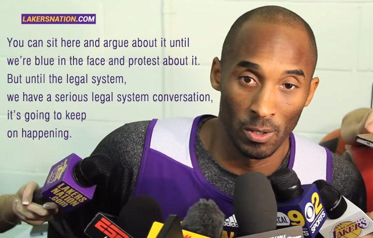 Kobe Bryant speaks on Ferguson Decision