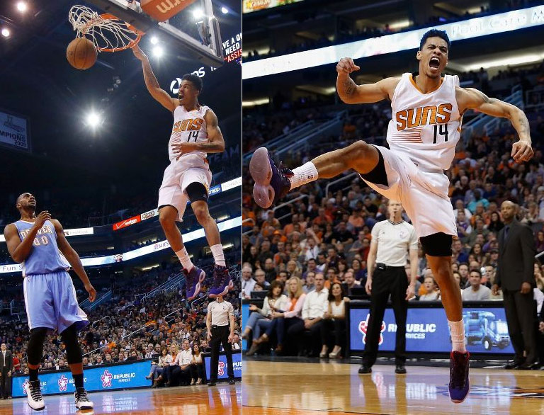 """Gerald Green """"the Nugget Killer"""" throws down some dunks & scores 24 in 26 minutes vs Denver"""
