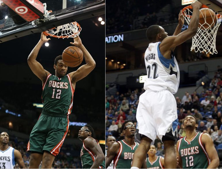 Andrew Wiggins -vs- Jabari Parker PT1, Bucks win