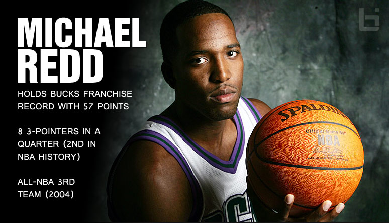 (2006) Michael Redd scores 57 points (42 in 2nd half) against the Utah Jazz