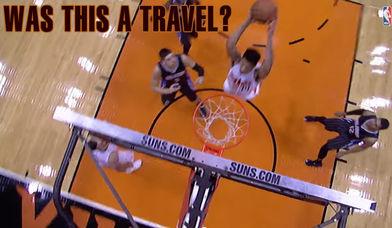 Gerald Green self alley-oop dunk off the backboard: Travel or good move?
