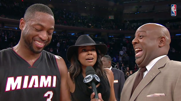 Dwyane Wade goes off in return, gets videobombed by Gabrielle Union