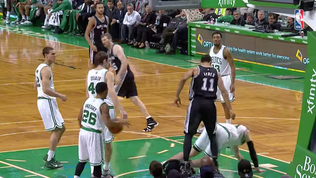 Jeff Ayres only bucket was a nasty poster dunk on Kelly Olynyk